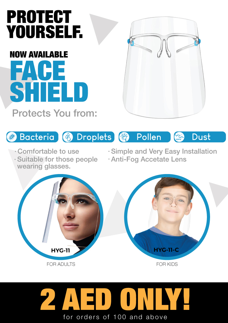 Face shield offers HYG-11