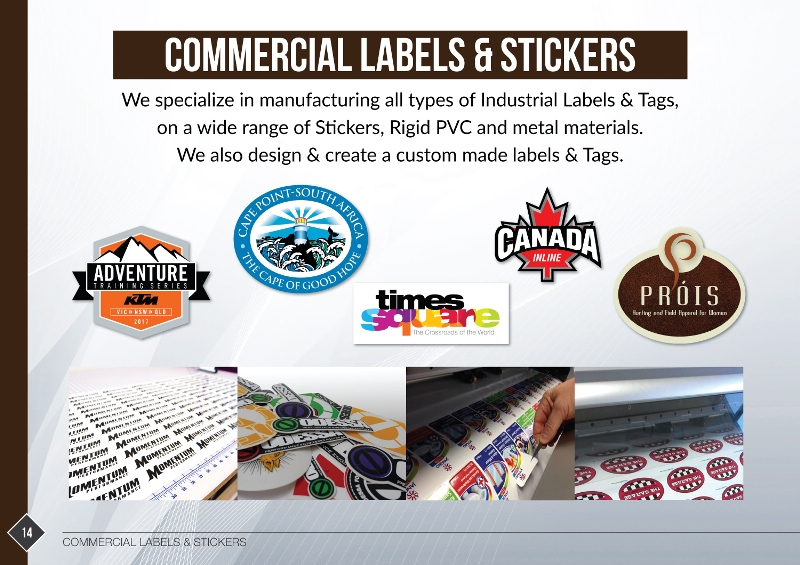 Stickers Lables Manufacturing