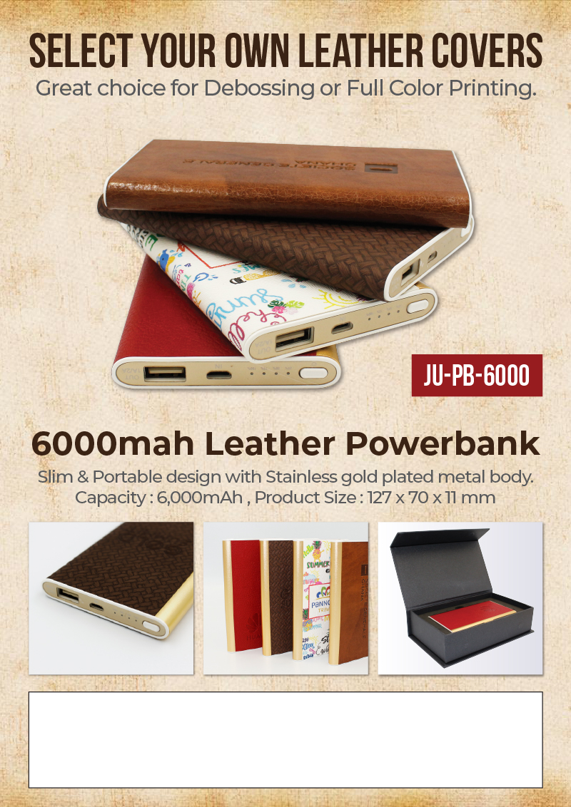 Leather Powerbank Promotional Flyer