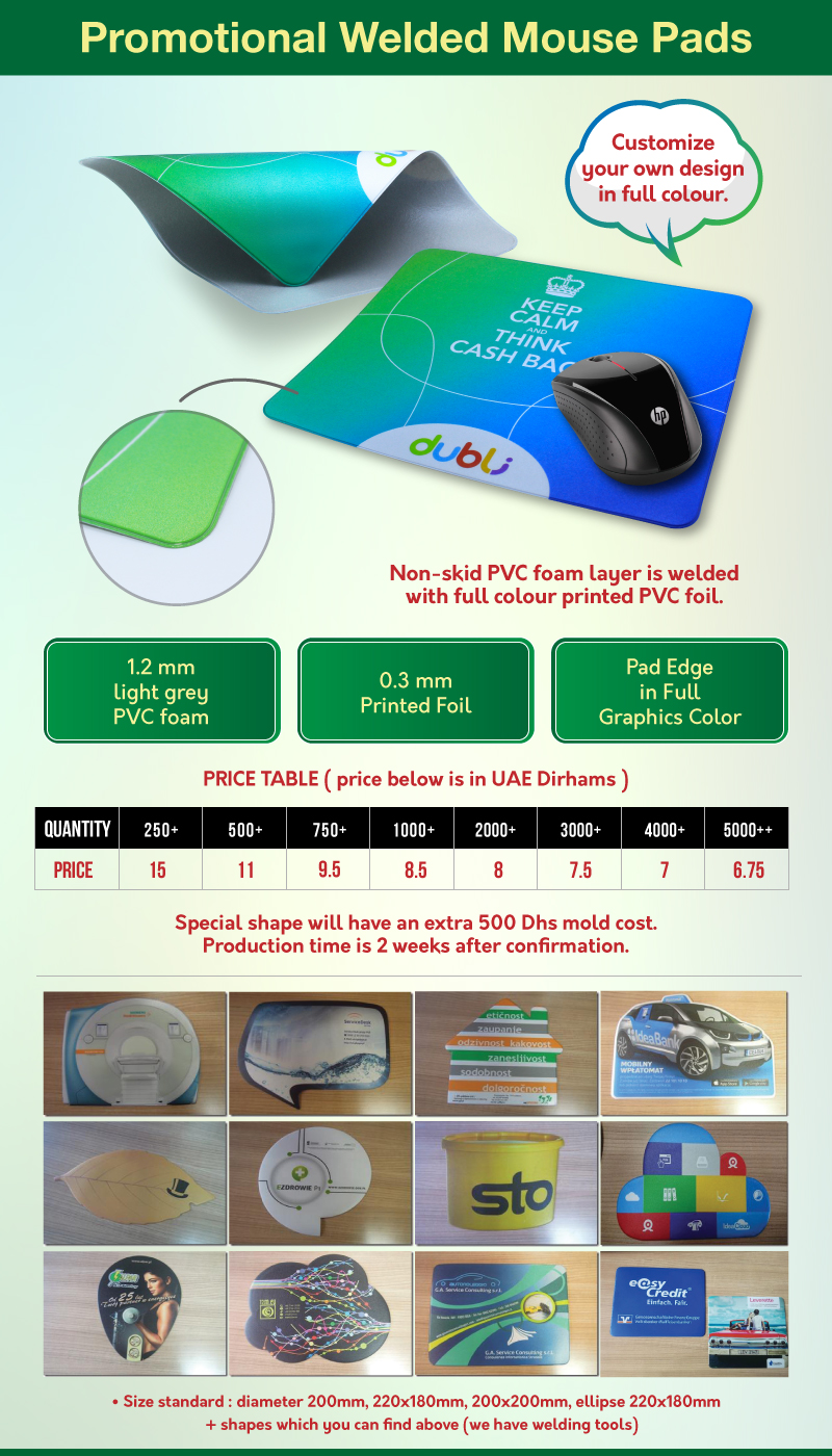Welded Mouse Pad Offer
