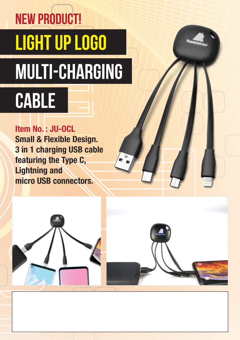 Multi-Charging Cable Promotional Flyer