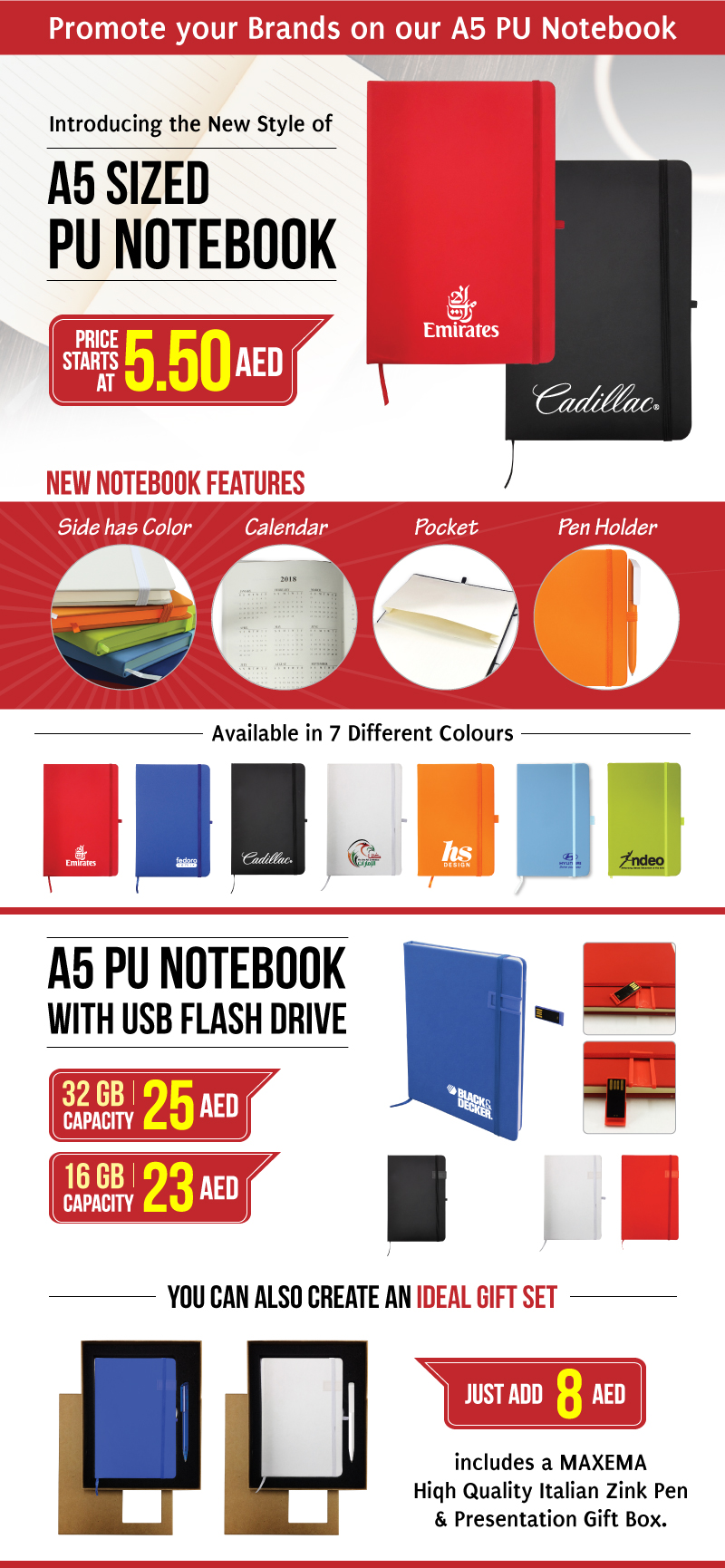 A5 PU Notebook Offers