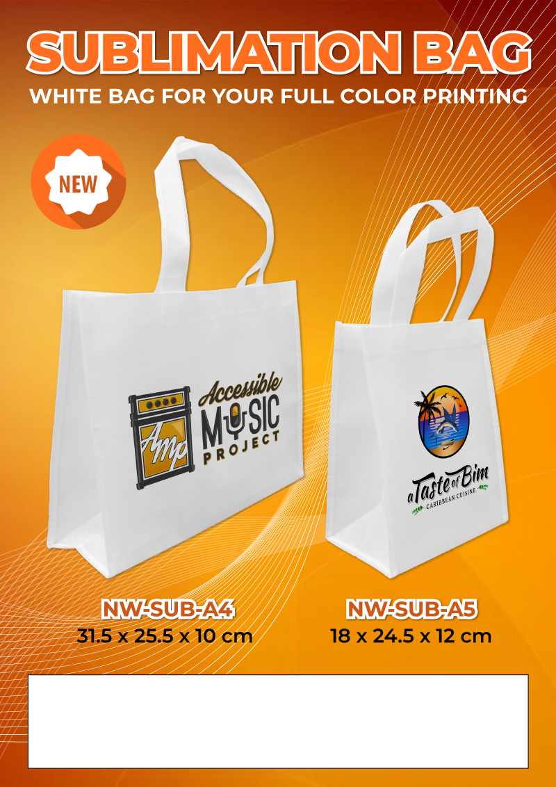 Sublimation Bags Promotional Flyer