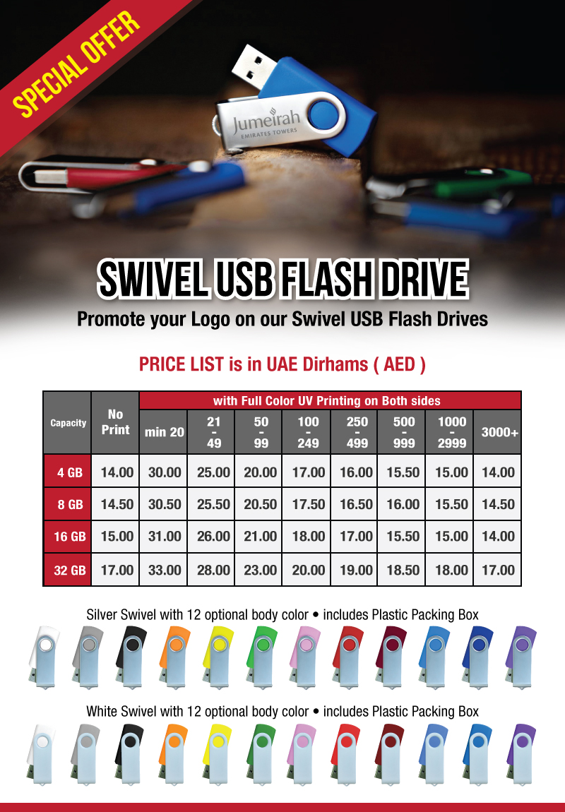 Promotional Swivel USB Flash Offers