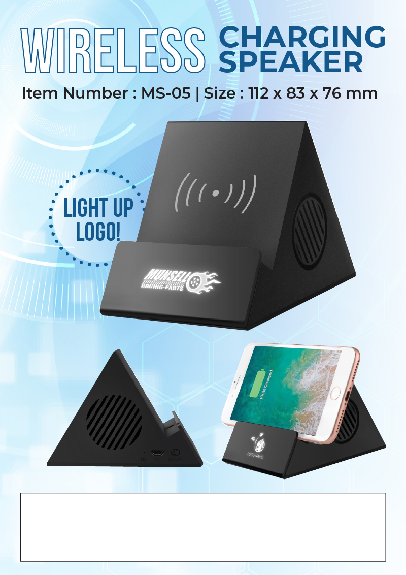 Wireless Charging Speaker Promotional Flyer