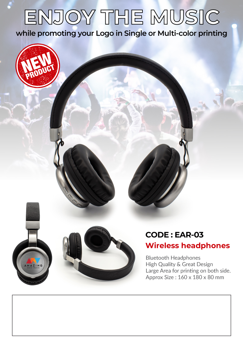 Wireless Headphone Promotional Flyer