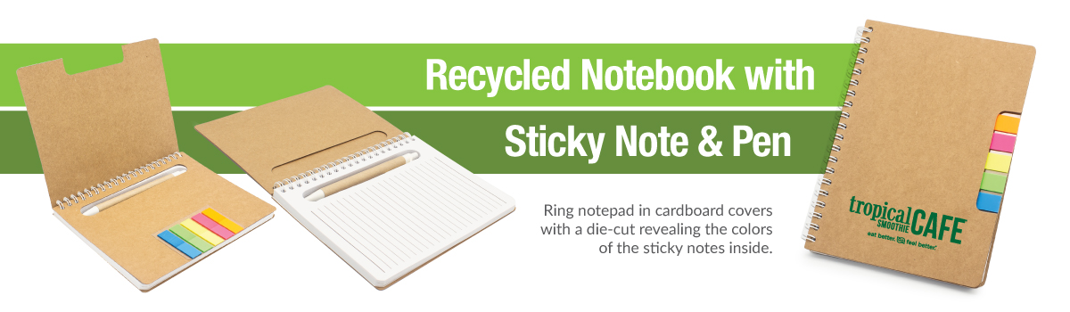 Promotional Notebook Sticky Note and Pen Banner