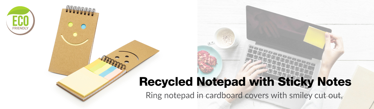 Recycled Notepad Banner