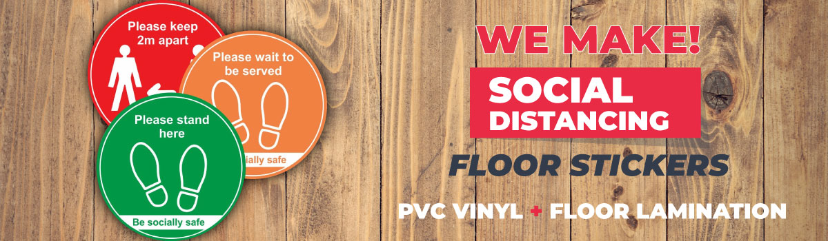 Floor Stickers Now Available!