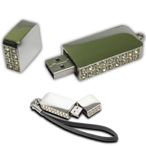 USB Flash Drives with Crystal studded
