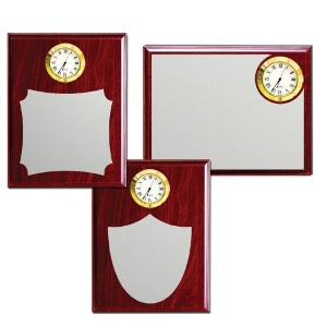 Wooden Plaques with Clock - 1234