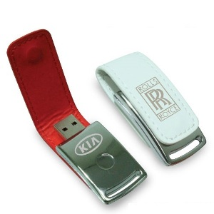 USB Flash Drives with Leather Cover and Magnetic Cap