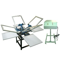 Four Tables Screen Printing Machines with Dryer