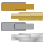 Gold and Silver Engravable Name Badges