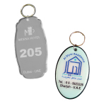 Acrylic Hotel Key Tags
