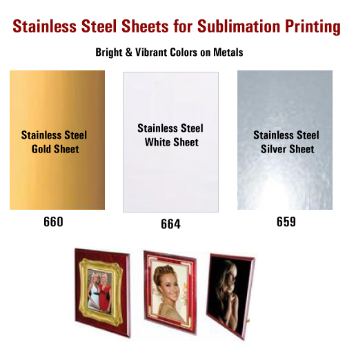 Stainless Steel Sheets Printable Sheets Sublimation Sheets