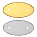 PVC Injected Oval Badges - Gold and Silver