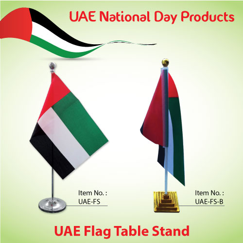 Uae National Day Quotes: UAE Flag Table Stand On National Day Event