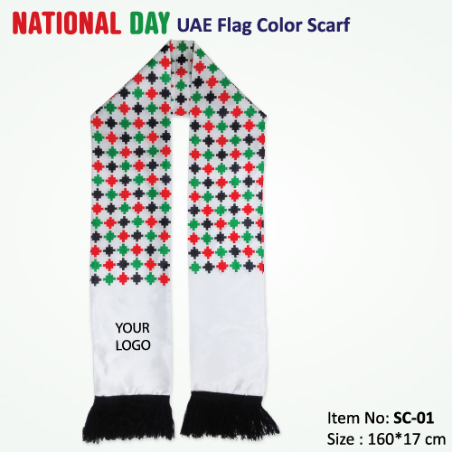 Uae National Day Quotes: UAE Flag Color Scarf For National Day Promo