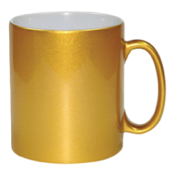 Sublimation Mugs in Gold Color