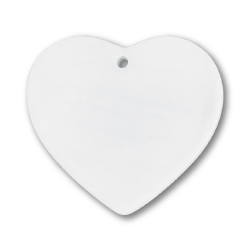 Heart Shaped Ceramic Ornament