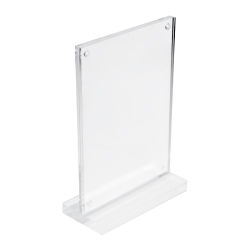 Transparent Acrylic Desk Sign Holder