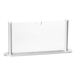 Silver Desk Sign Holder