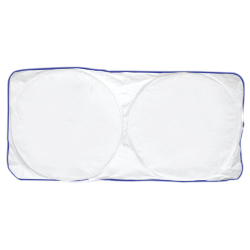 Car Sun Shades in White Color with Branding