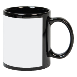 Mugs in Black with White Printable area