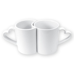 Mugs in Heart Shape Handle