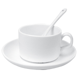 Tea Cup with Spoon and Saucer