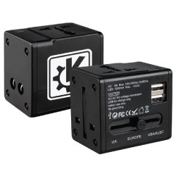 Travel Adapters Black Color