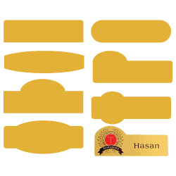 Custom Made Name Badges Gold