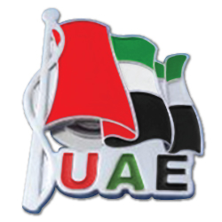 UAE Flag Badge with Backside Magnet