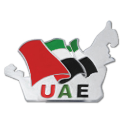 UAE Map Badge For National Day