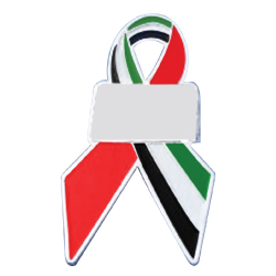 UAE Flag Ribbon Shape Badges