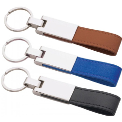 Metal Key chains with Leather Strap