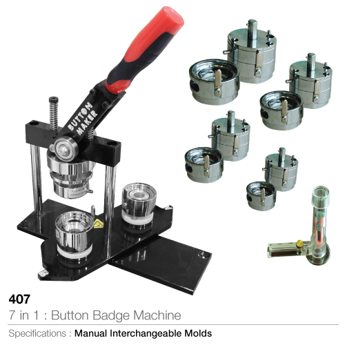 7 in 1 Button Badge Machine and Badge Maker