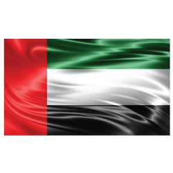 UAE Flag Satin Material UAE-F-B