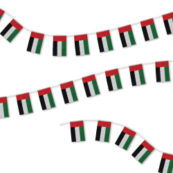UAE 32pcs String Flag