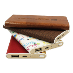 Leather Cover Powerbank JU-PB-6000