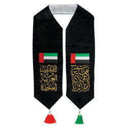 UAE Day Velvet Scarf with Embroidery 2019.