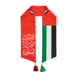 UAE Flag Satin Scarf For 48th National Day 2019