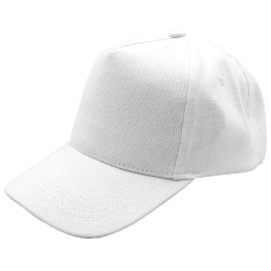White Cotton Caps CAP-C-01