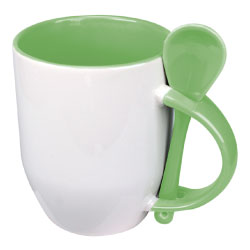 Sublimation 2 tone Mugs with spoon