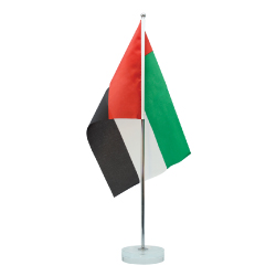 uae flag with stand
