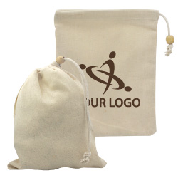 Cotton Pouch with Drawstring PCH-04