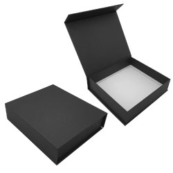 Black Gift Box with Magnetic Flap GB-BK-