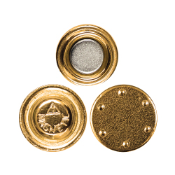 Gold Plated Round Magnets 2016-B-G