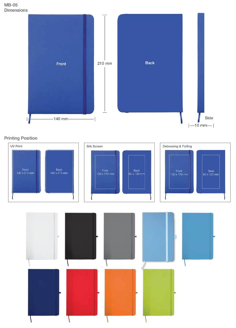 Printing Details Notebook A5 Size